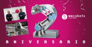 wecobots celebra su 2º aniversario